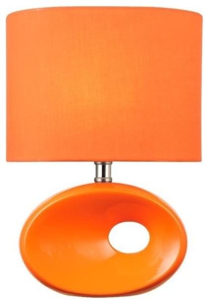 Modern Table Lamp, Orange by Lite Source Inc.