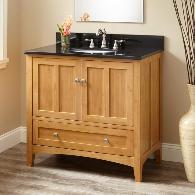 """36"""" Evelyn Bamboo Vanity For Undermount Sink"""