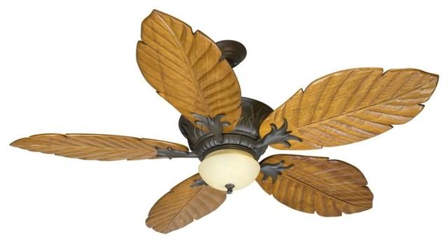 Craftmade K10344 Pavilion 56 5-Blade Indoor Ceiling Fan, Aged Bronze.