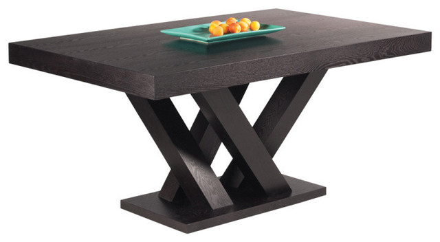 Madero Rectangle Dining Table Large, Dark Espresso Transitional Dining  Tables