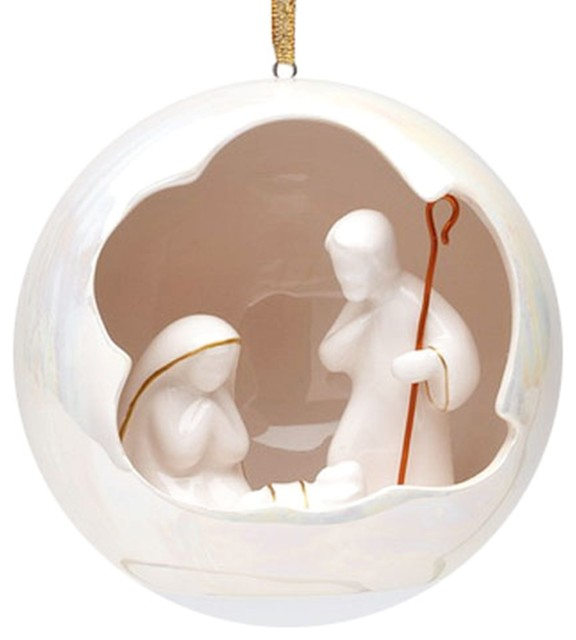 Holy Family Heavenly North Star Christmas Tree Ornament Porcelain