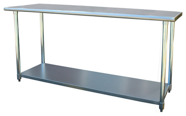 X Stainless Steel Top Utility Table Workbench Contemporary - 6ft stainless steel table