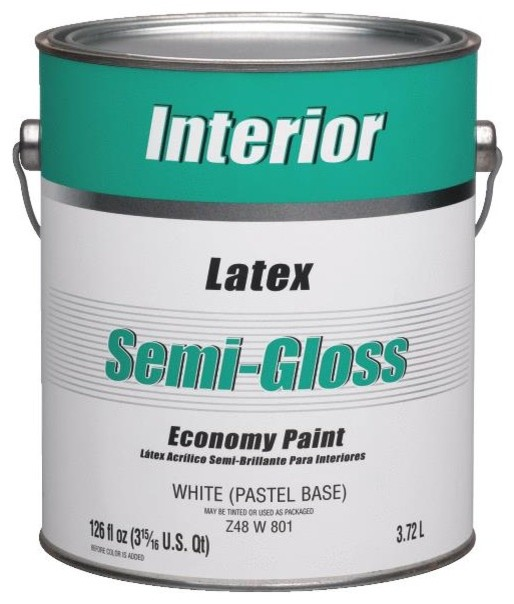 Economy Latex Semi Gloss Interior Wall Paint Paint By Hipp Modern Builders Supply