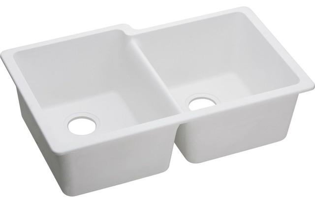 """Elkay, Kitchen Sink, White, 2""""x33""""x9""""."""