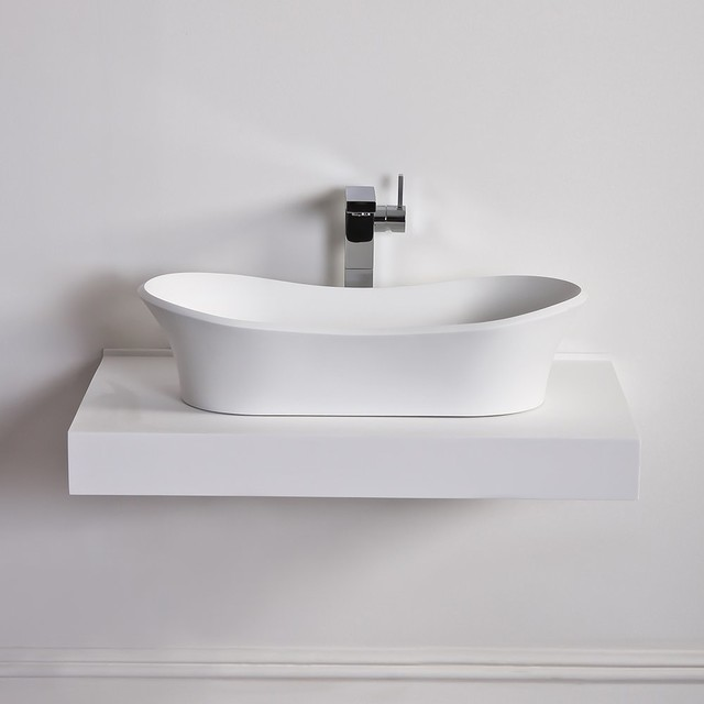 bunnings bathroom sinks panos solid composite counter top basin 660 x 345 12207
