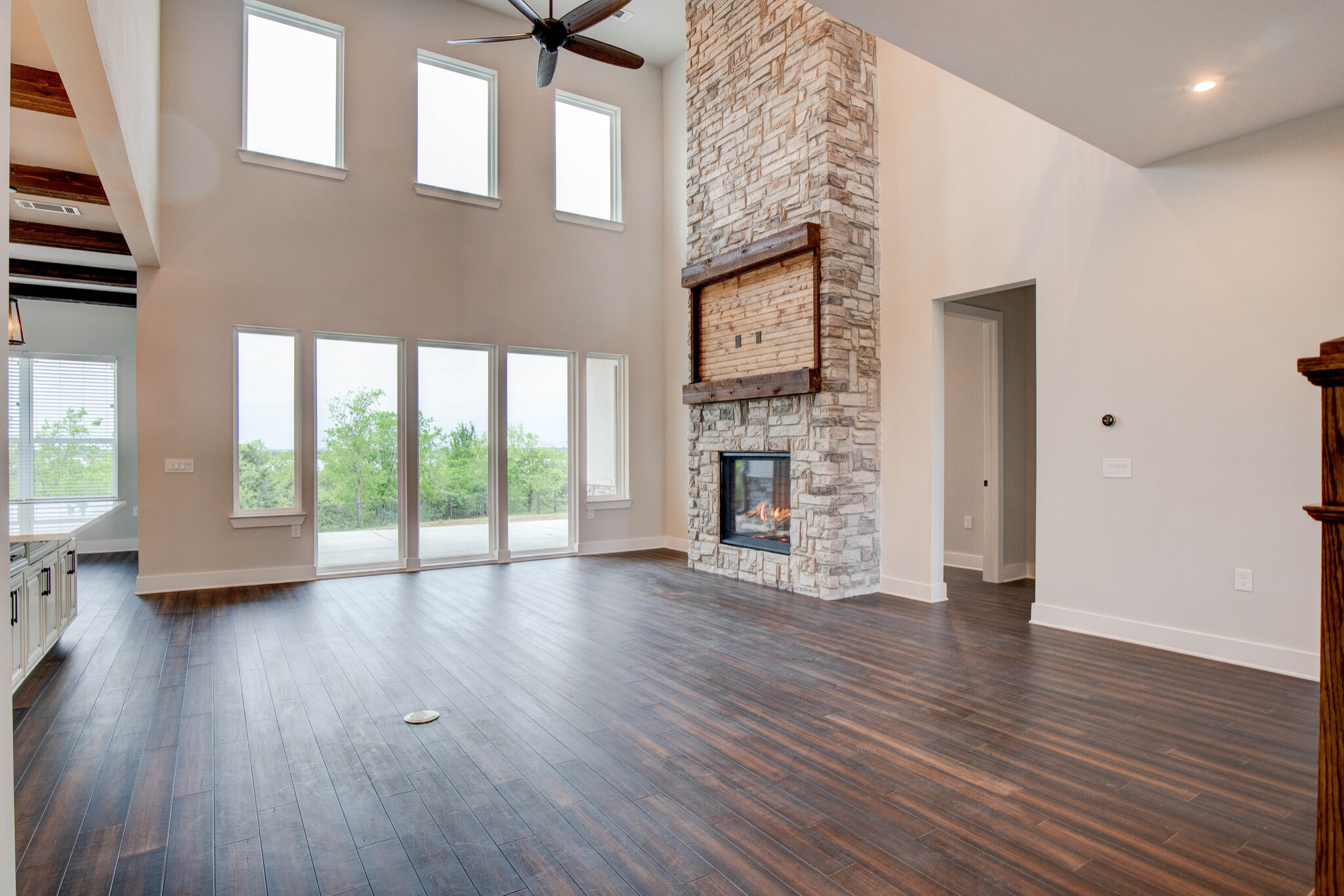 Transitional Two-Story Lakehouse