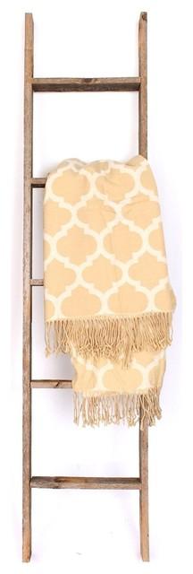 Ladder-Style Reclaimed Wood Shelf, 5&x27;.