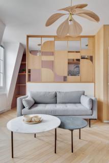 Un 27 m2 parisien aux teintes printanières 1