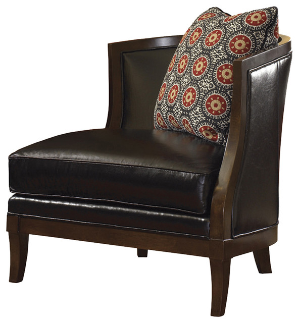 Lexington Leather Garland Arm Facing Leather Chair  : transitional armchairs and accent chairs from www.houzz.com size 592 x 640 jpeg 78kB