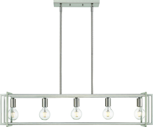 Tribeca Linear Pendant, Pewter, Pewter Accents