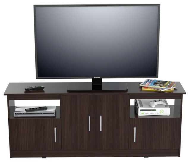 "Inval 60"" Tv Stand, Espresso Wengue."
