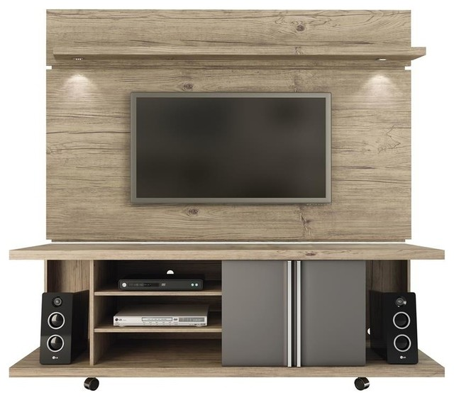 Manhattan Comfort Carnegie Tv Stand And Park Floating Wall Tv Panel.