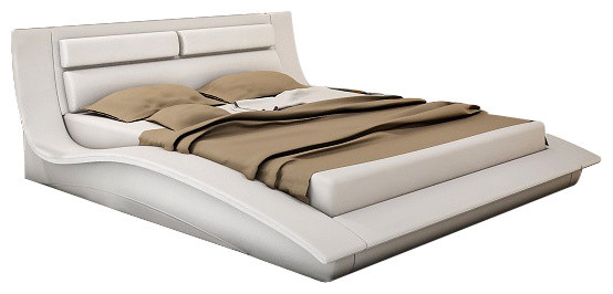 J&M Wave Platform Queen Bed - Contemporary - Platform Beds - by New ...