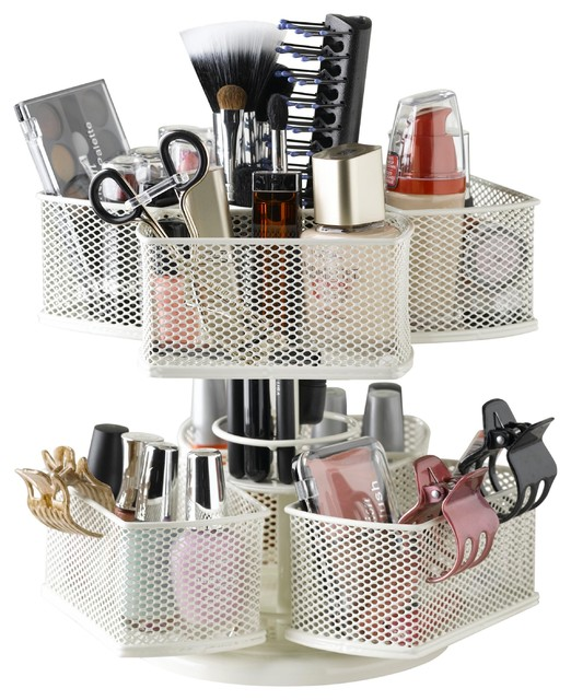 Cosmetic Organizing Carousel Contemporary Bathroom Organizers By Nifty Home Products Inc