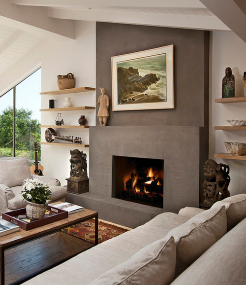 Here is a plaster finish surround that I like. - Fireplace Surround Ideas - Twilight Porch Fireplace