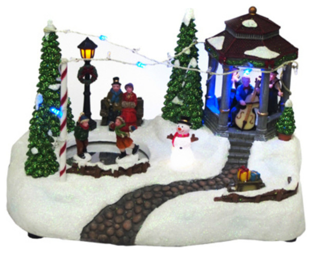 Nature&x27;s Mark Nm-X13091ca Animated Holiday Gazebo Scene W/ Led Lights & Music.