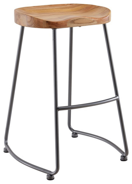26 Solid Woodmetal Counter Stools Set Of 2 Industrial Bar
