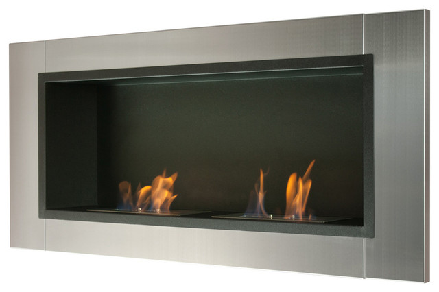 Lata Wall Mounted / Recessed Ventless Ethanol Fireplace ...