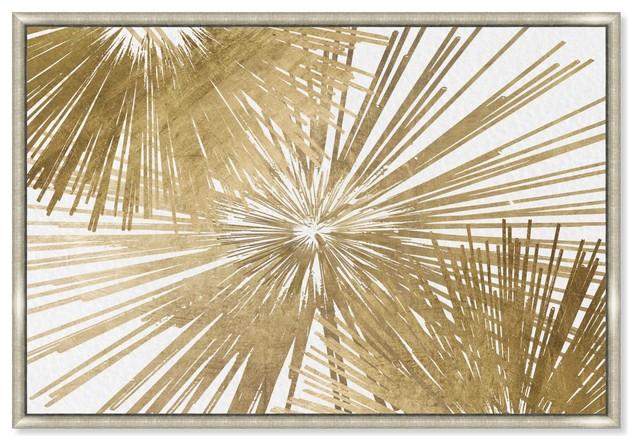 """Oliver Gal &x27;sunburst Glam Luxe Day&x27; Framed Art, 32""""x47""""."""