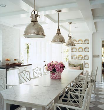 long marble dining table