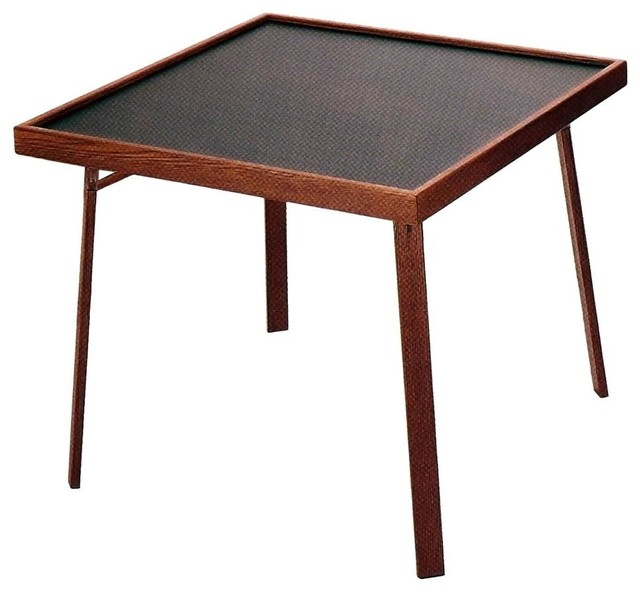 Lovely 4 Player Domino U0026 Game Table, Fruitwood/Walnut Contemporary Game Tables