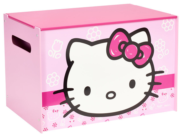 Hello Kitty Toy Chest : Hello kitty toy box contemporary kids boxes
