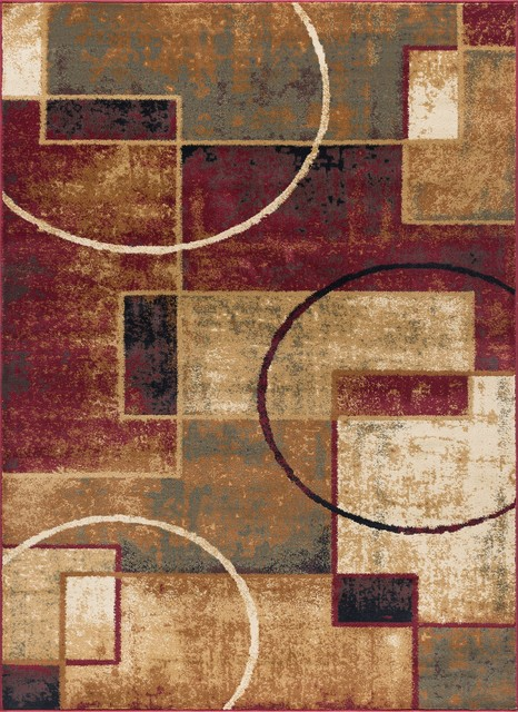 Andrew Contemporary Abstract Area Rug