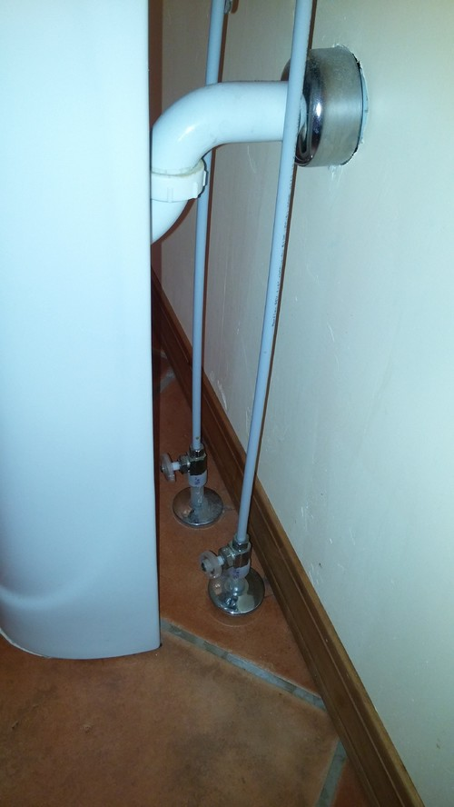 Steps required to move bathroom pedestal sink about a foot?