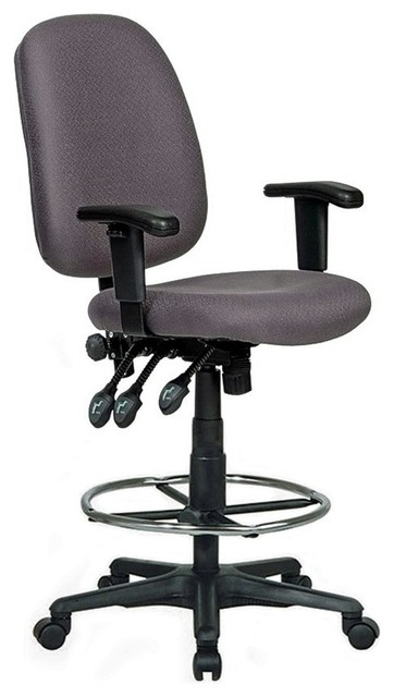 Harwick Extra Tall Ergonomic Drafting Chair, Gray Contemporary Office Chairs