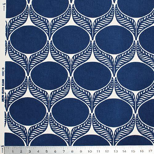 June Leaf Fabric, Navy