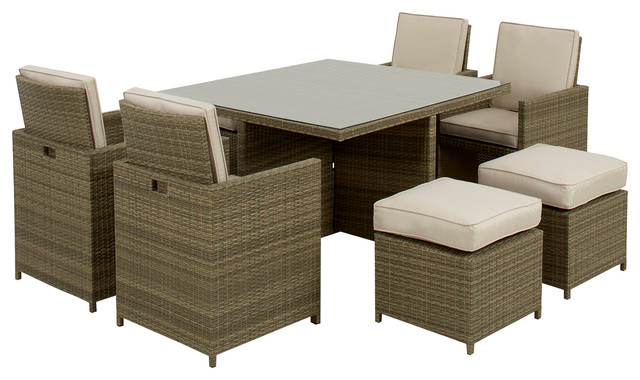 Tuscany Cube 9-Piece Outdoor Dining Set