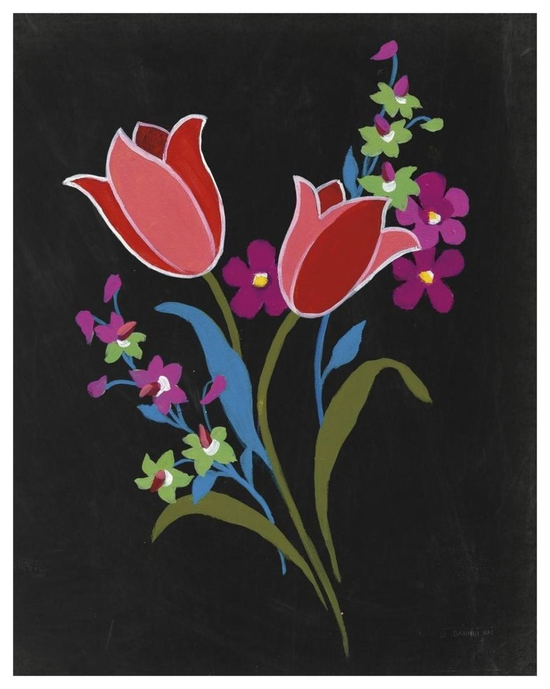 Alpine Bouquet II Gray Poster Print by Danhui Nai 20 x 24