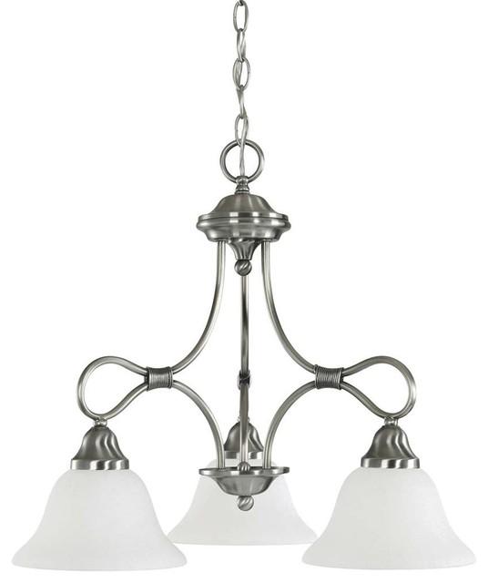 Kichler Stafford Chandelier 3-Light, Antique Pewter traditional-chandeliers - Kichler Stafford Chandelier 3-Light, Antique Pewter - Traditional