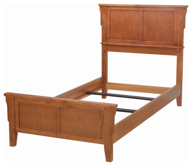 Arts and crafts bed oak twin transitional kids beds for Kids craft bed