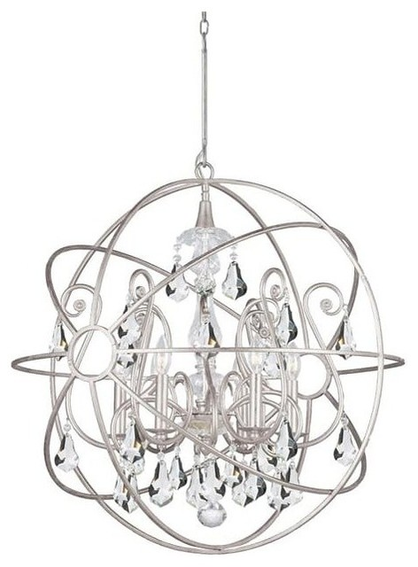 Crystorama Lighting Group 9028 Cl S Palla Chandelier Old Silver