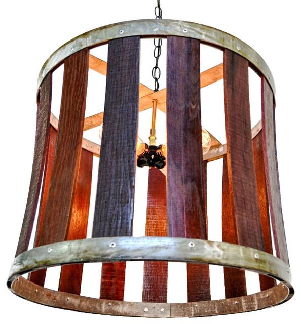 Craftsman drum barrel stave chandelier rustic pendant lighting craftsman drum barrel stave chandelier aloadofball Choice Image