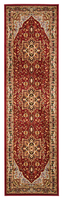 Safavieh Sevran Woven Rug, Red And Black, 2&x27;3x12&x27;.
