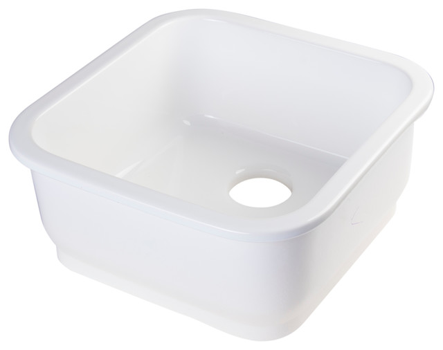 Square Fireclay Undermount or Drop in Prep and Bar Sink