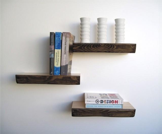 Modern Shelf bark floating shelf - modern - other -mocha