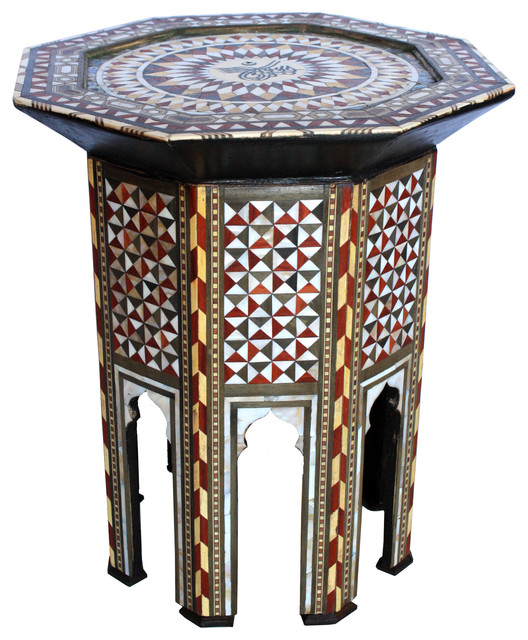 Moroccan Inlaid Side Table