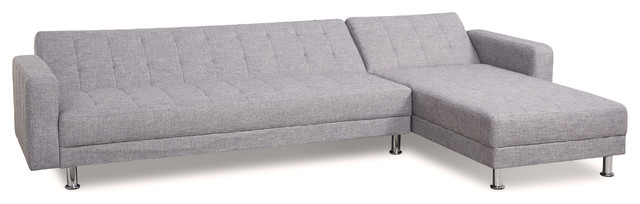 Barcelona Sofa Bed Sectional With Chaise Light Gray contemporary-sectional-sofas  sc 1 st  Houzz : chaise barcelona - Sectionals, Sofas & Couches