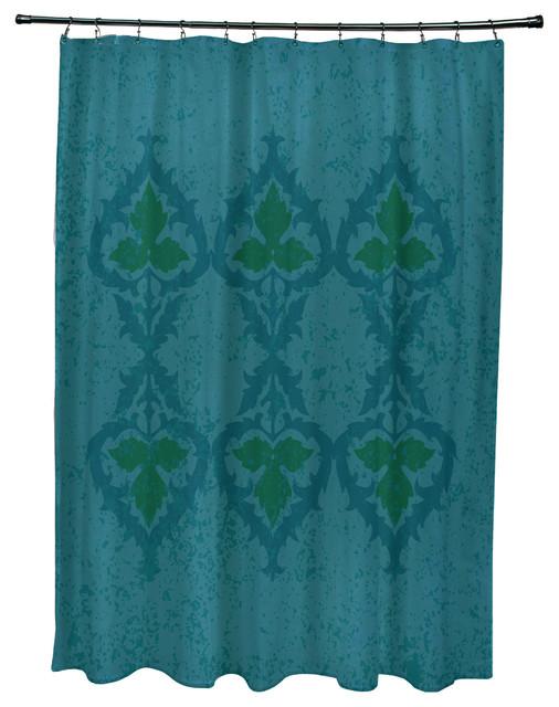 Shop Houzz E By Design Ananda Geometric Print Shower Curtain Shower Curtains
