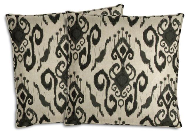 Ikat Outdoor Throw Pillows Set Of 2 Mediterranean Outdoor