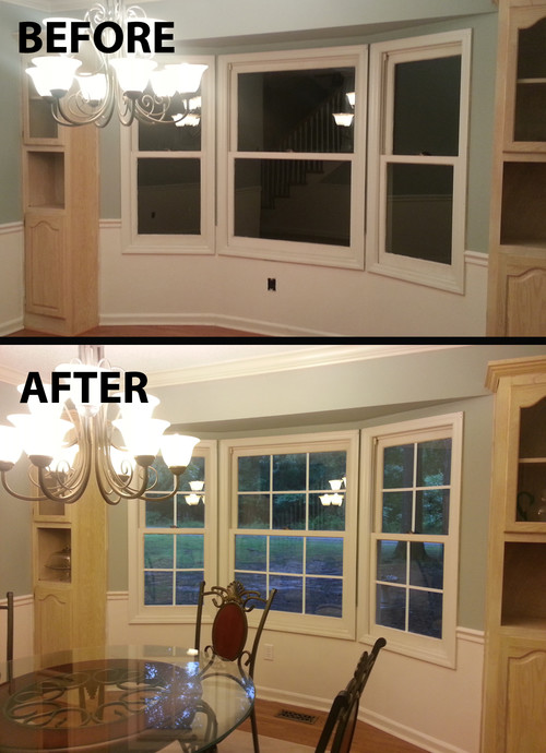 Quick Easy Faux Window Panes