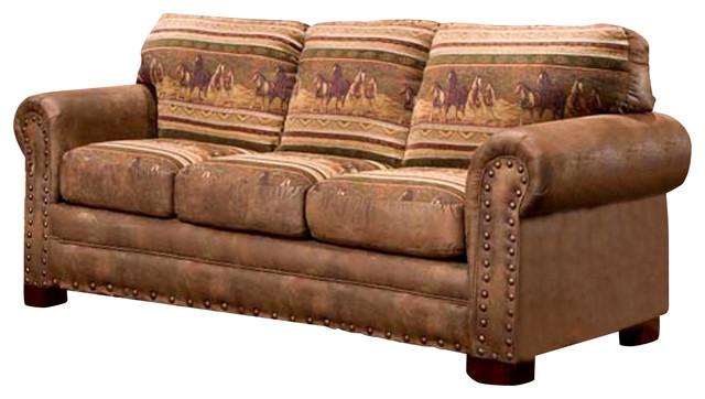 Wild Horses Sleeper Sofa Traditional Sleeper Sofas By American Furniture Classics