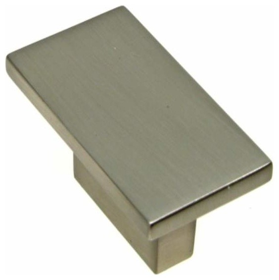 Richelieu Contemporary Metal Rectangular Knob 16mm Nickel - Contemporary - Cabinet And Drawer ...