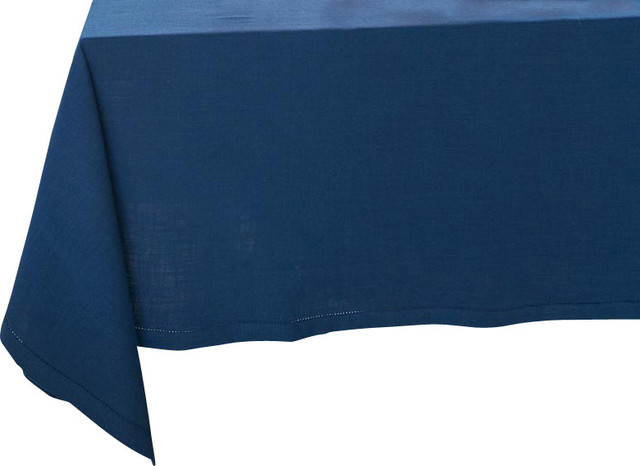 """Hemstitch Tablecloth, Round, 90"""" - Traditional - Tablecloths - by ..."""