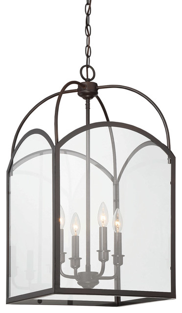 Garrett 4-Light Foyer Pendants, English Bronze.