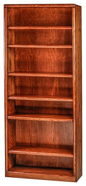 Bullnose Oak Bookcase Golden Oak