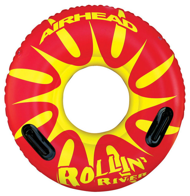 Airhead Rollin&x27; River, Inflatable Tube For Pools.